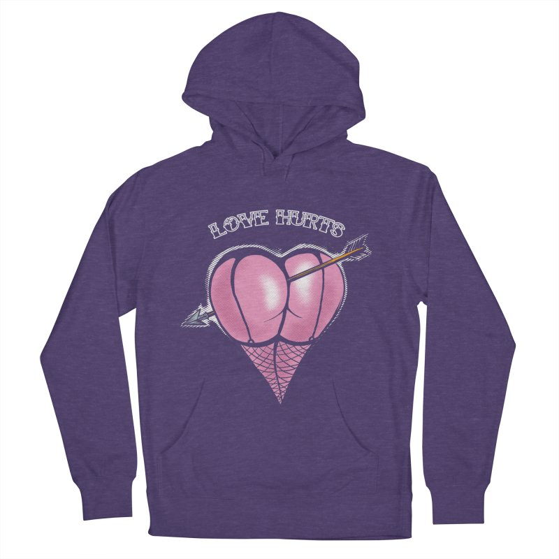Love hurts Men's French Terry Pullover Hoody by martinskowsky