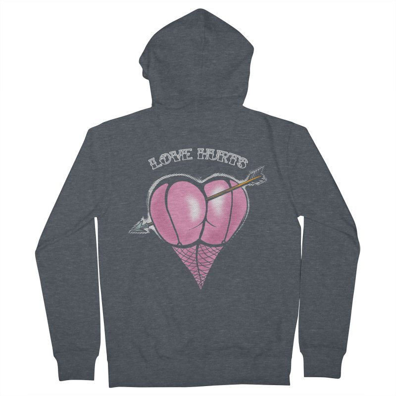 Love hurts Women's French Terry Zip-Up Hoody by martinskowsky