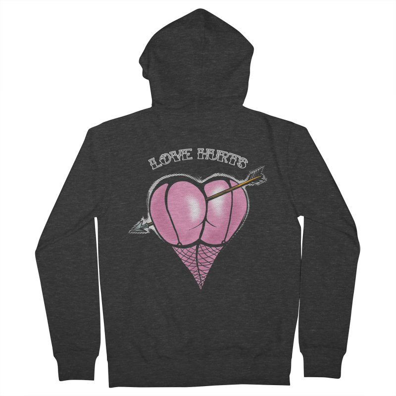 Love hurts Men's French Terry Zip-Up Hoody by martinskowsky