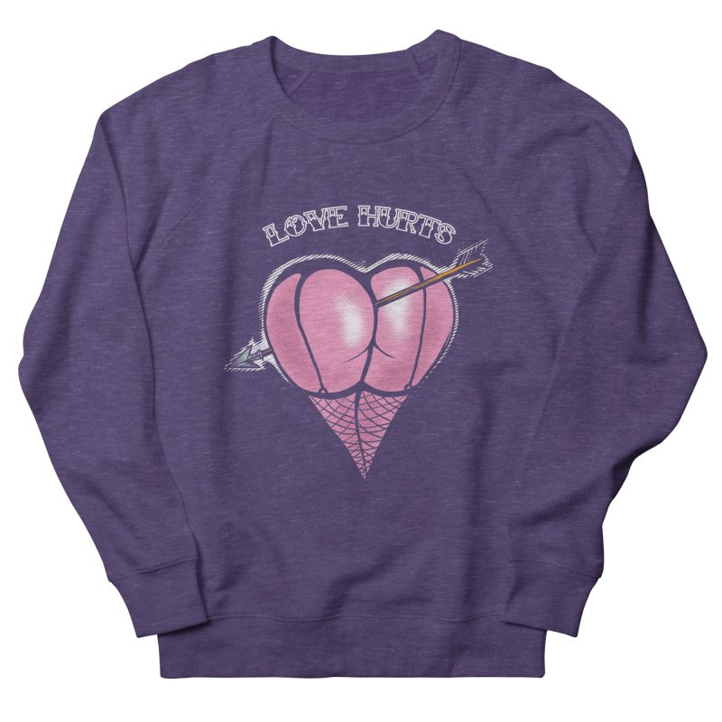 Love hurts Women's French Terry Sweatshirt by martinskowsky