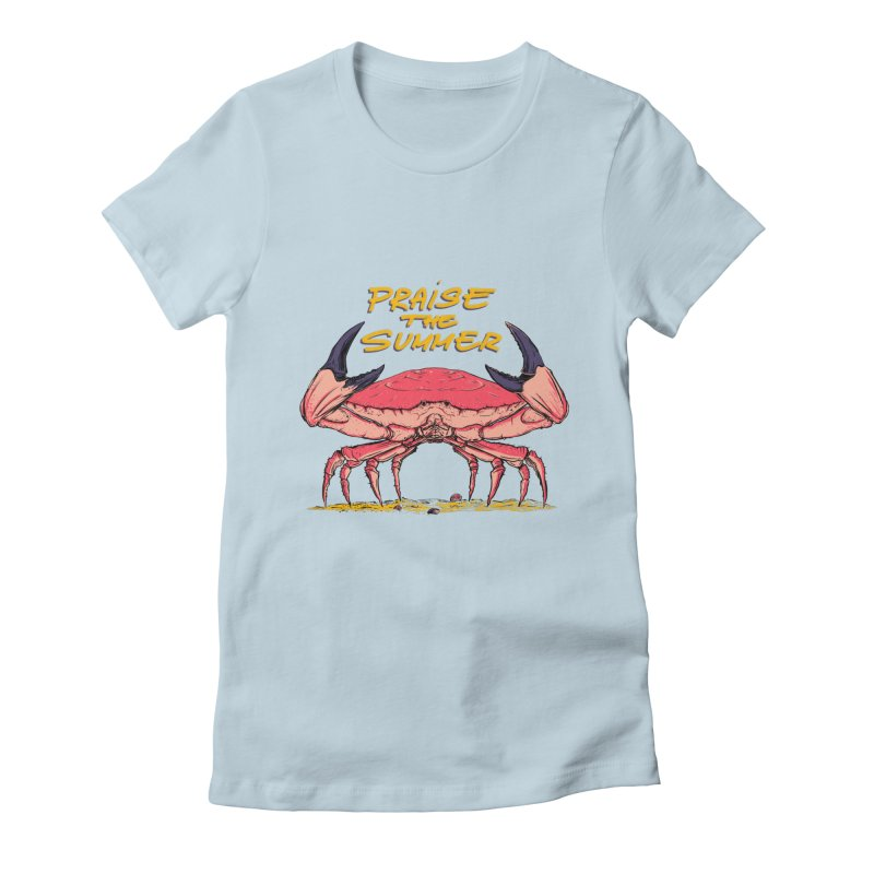 praise the summer Women's Fitted T-Shirt by martinskowsky