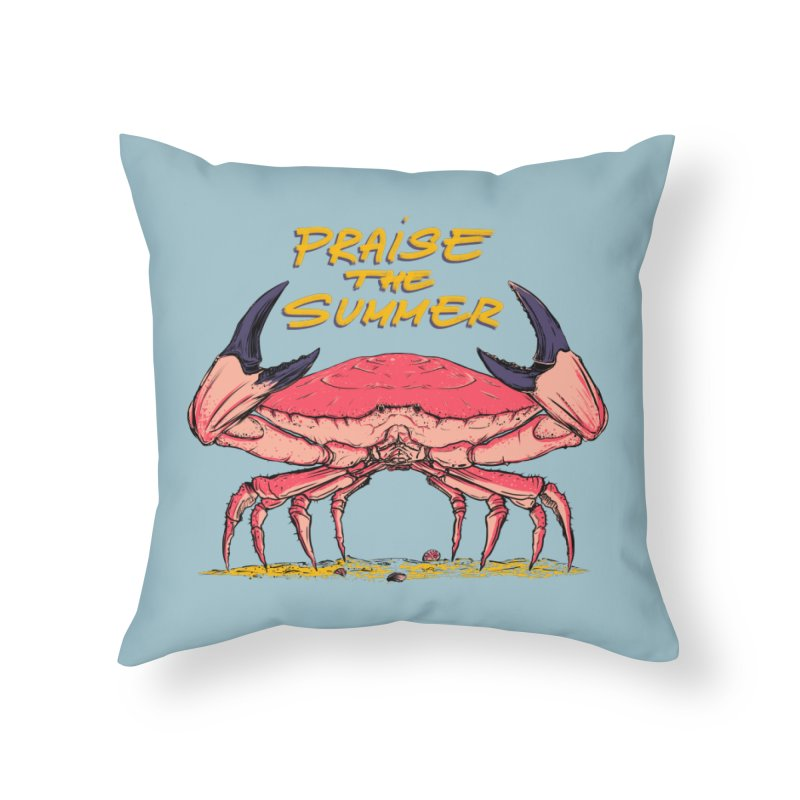 praise the summer Home Throw Pillow by martinskowsky