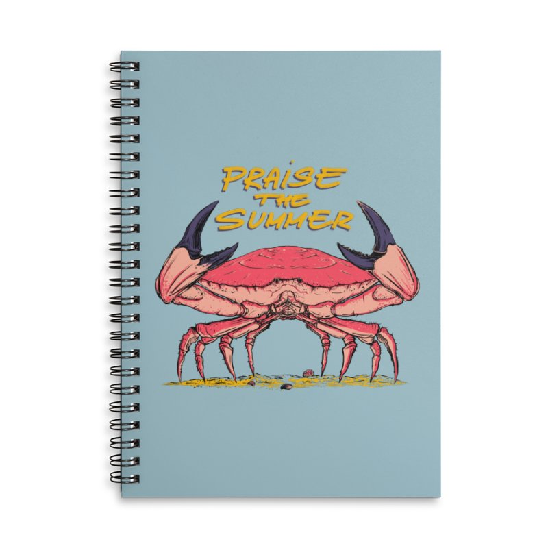 praise the summer Accessories Lined Spiral Notebook by martinskowsky