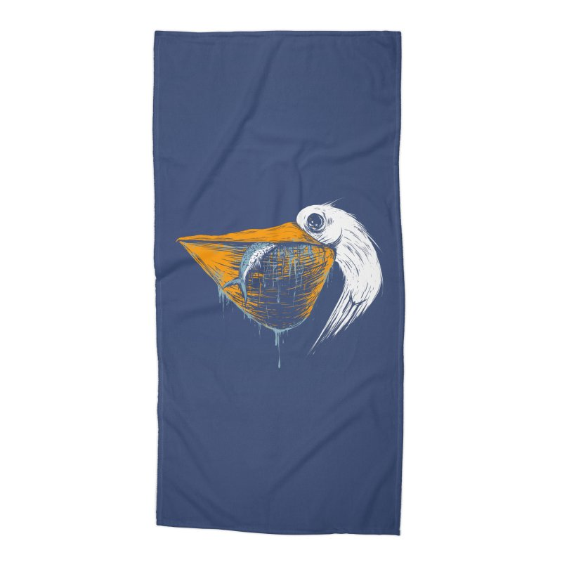great white pelican Accessories Beach Towel by martinskowsky