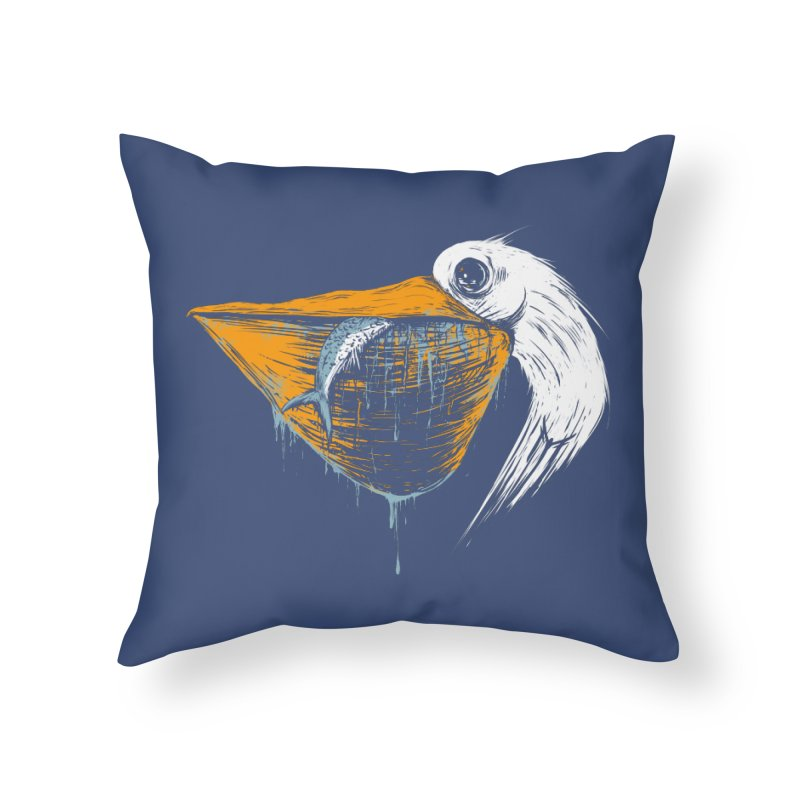 great white pelican Home Throw Pillow by martinskowsky