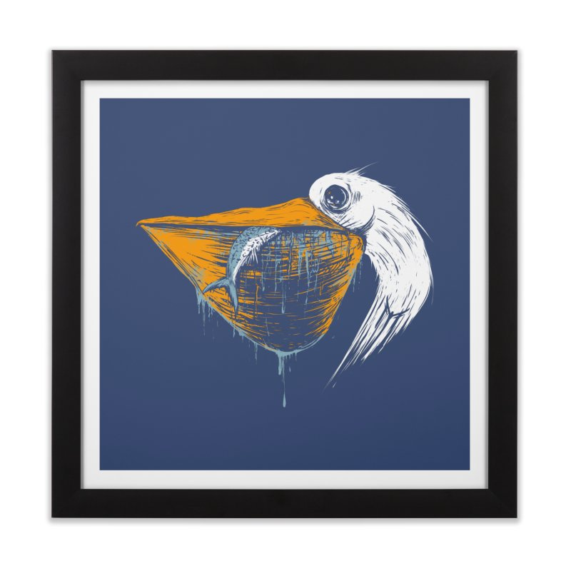 great white pelican Home Framed Fine Art Print by martinskowsky