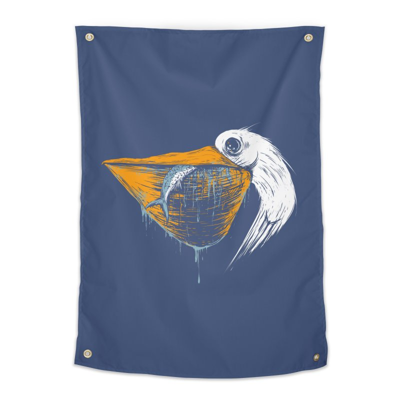 great white pelican Home Tapestry by martinskowsky