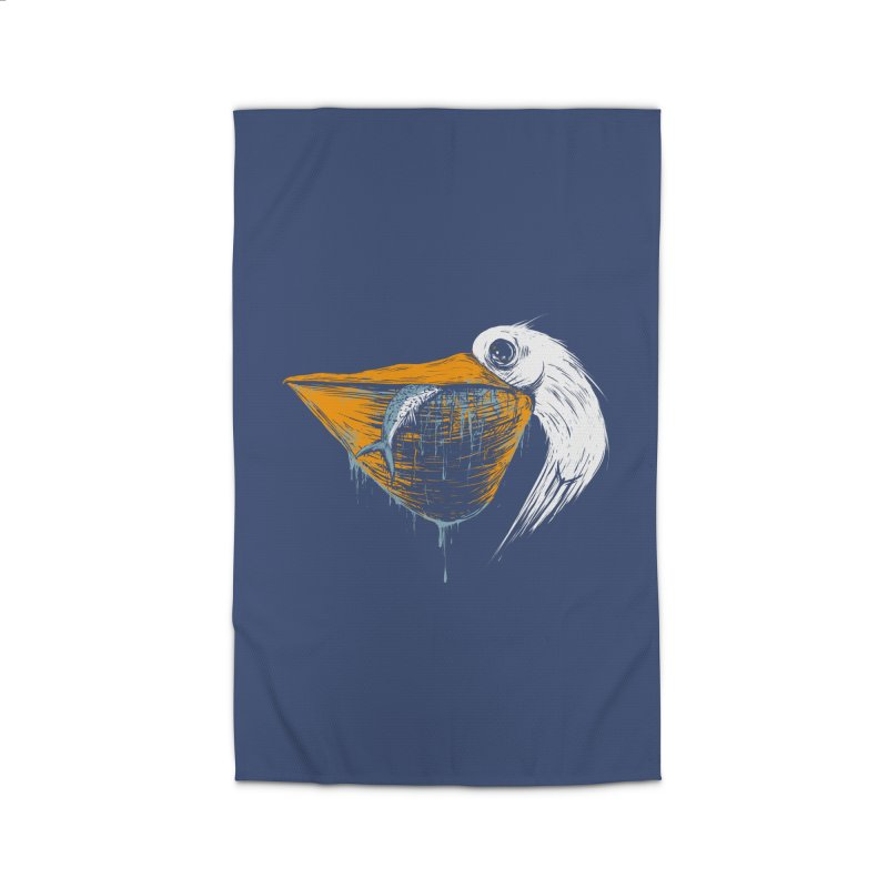 great white pelican Home Rug by martinskowsky