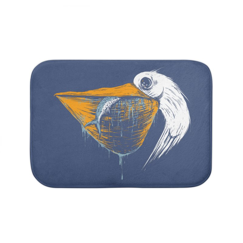 great white pelican Home Bath Mat by martinskowsky