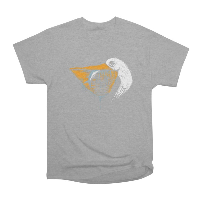 great white pelican Women's Heavyweight Unisex T-Shirt by martinskowsky