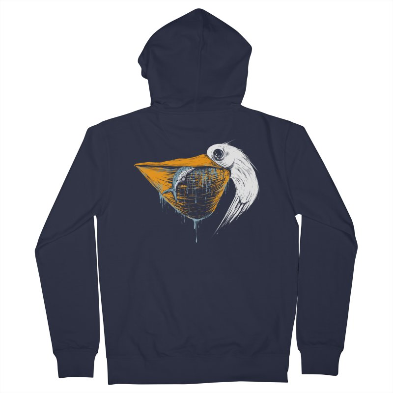 great white pelican Men's French Terry Zip-Up Hoody by martinskowsky