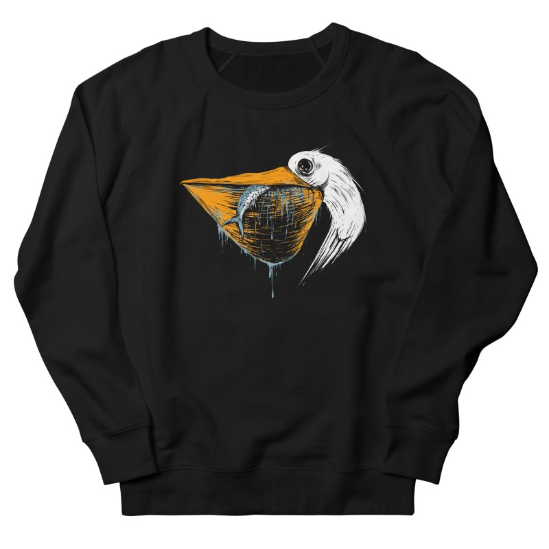 great white pelican Men's French Terry Sweatshirt by martinskowsky