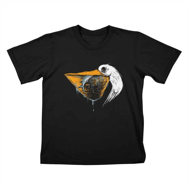 great white pelican Kids T-Shirt by martinskowsky