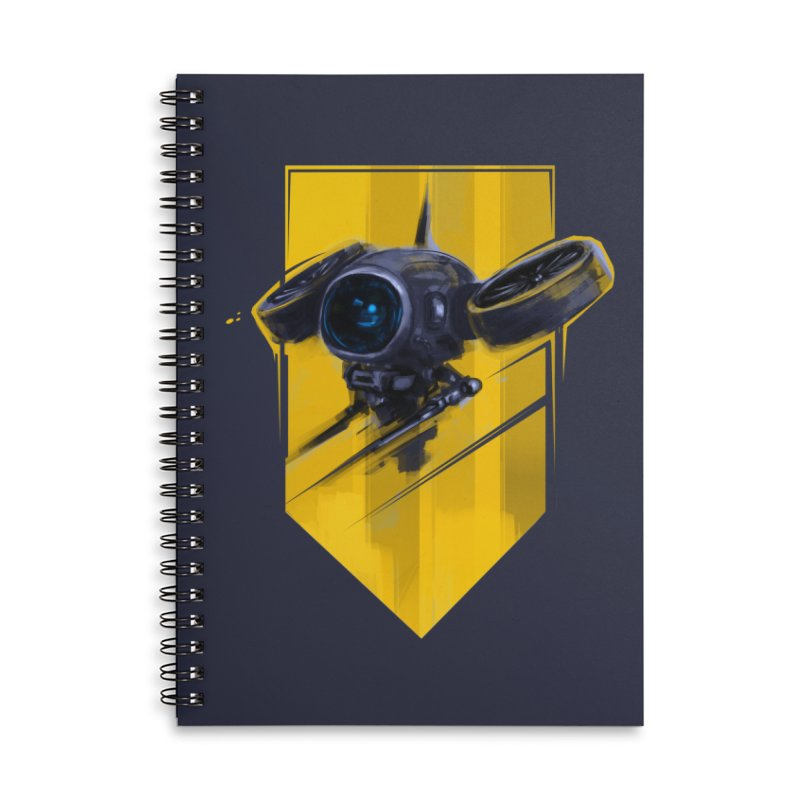 UAV Accessories Lined Spiral Notebook by martinskowsky