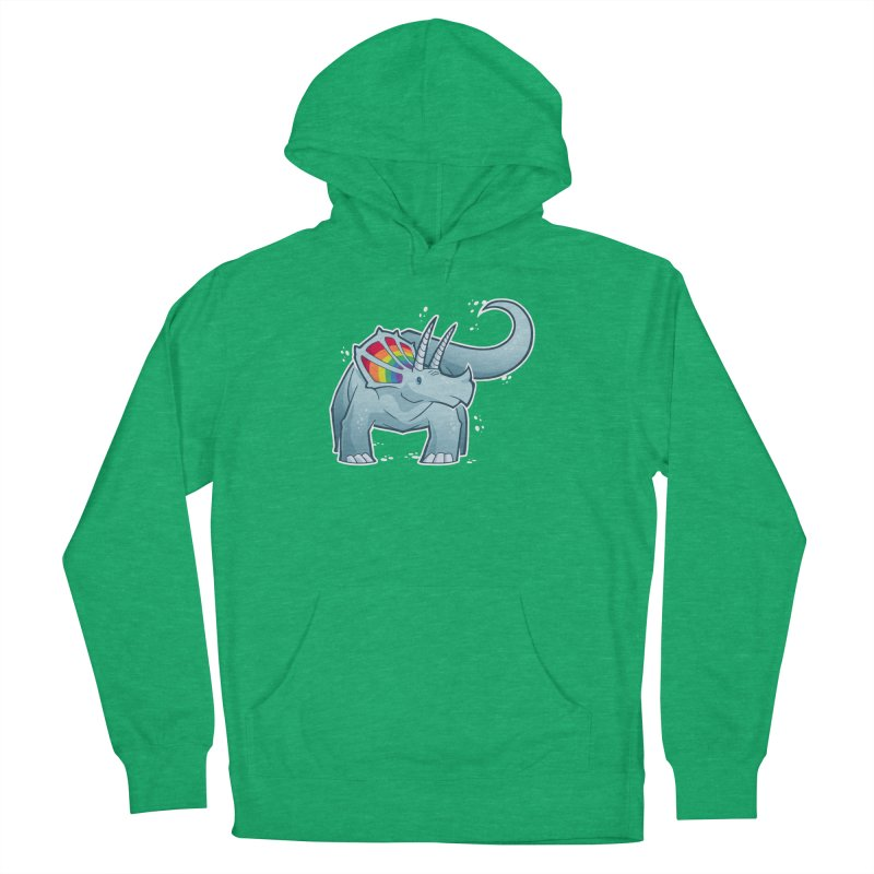 Prideceratops Men's French Terry Pullover Hoody by Marty's Artist Shop