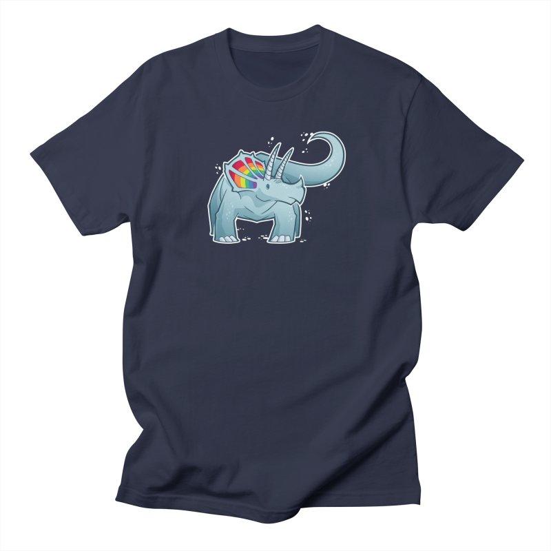 Prideceratops Men's Regular T-Shirt by Marty's Artist Shop