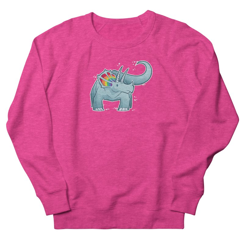 Prideceratops Women's French Terry Sweatshirt by Marty's Artist Shop