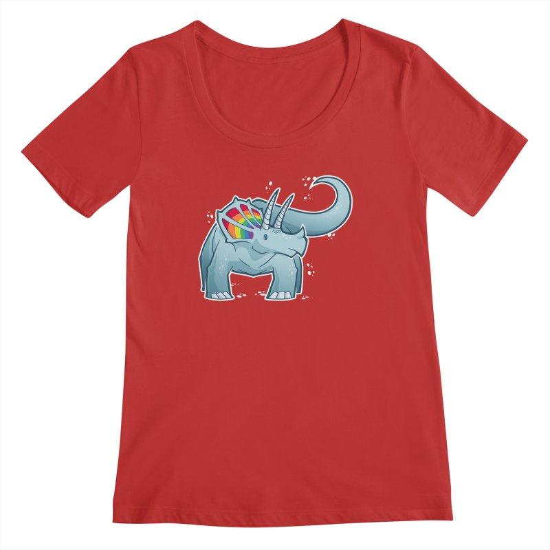 Prideceratops Women's Regular Scoop Neck by Marty's Artist Shop