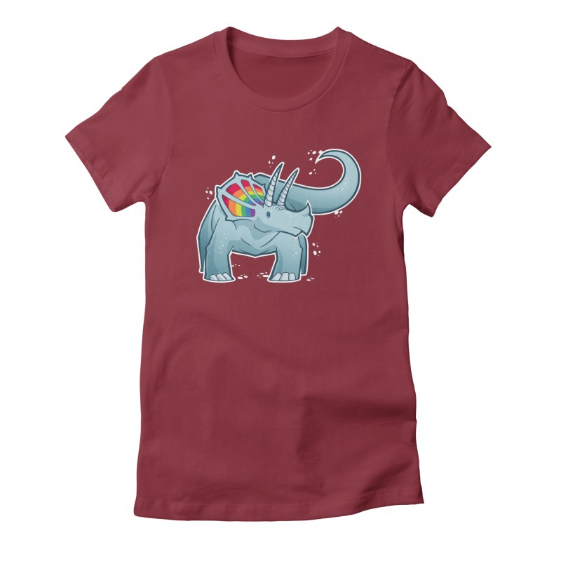 Prideceratops Women's Fitted T-Shirt by Marty's Artist Shop