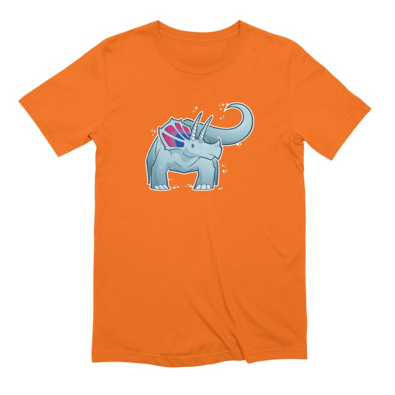 Biceratops Men's Extra Soft T-Shirt by Marty's Artist Shop