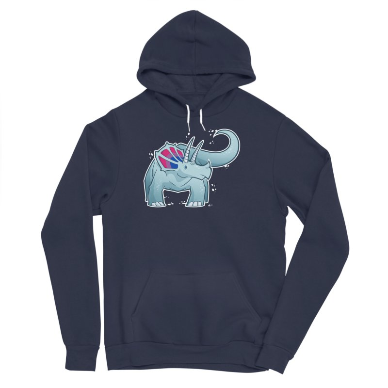 Biceratops Women's Sponge Fleece Pullover Hoody by Marty's Artist Shop