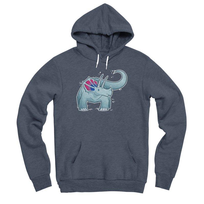 Biceratops Men's Sponge Fleece Pullover Hoody by Marty's Artist Shop
