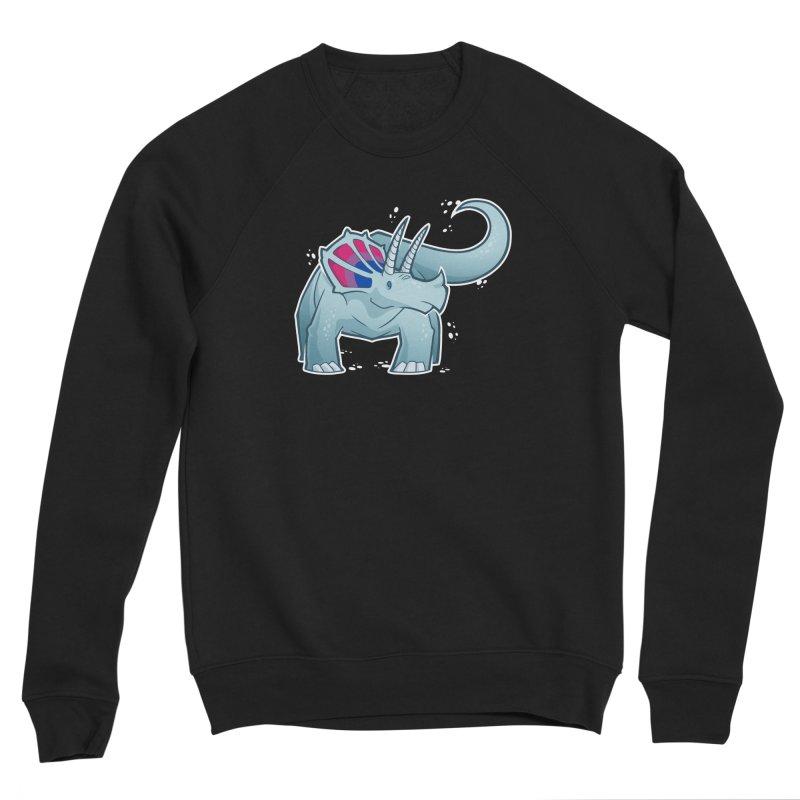Biceratops Men's Sponge Fleece Sweatshirt by Marty's Artist Shop