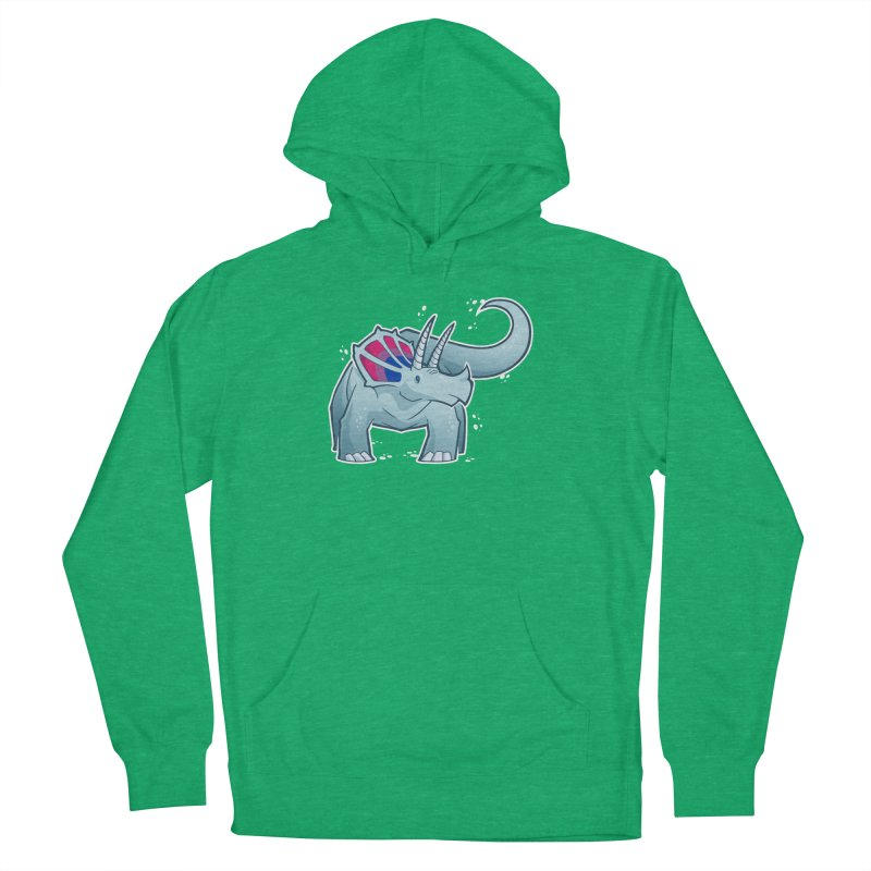 Biceratops Women's French Terry Pullover Hoody by Marty's Artist Shop