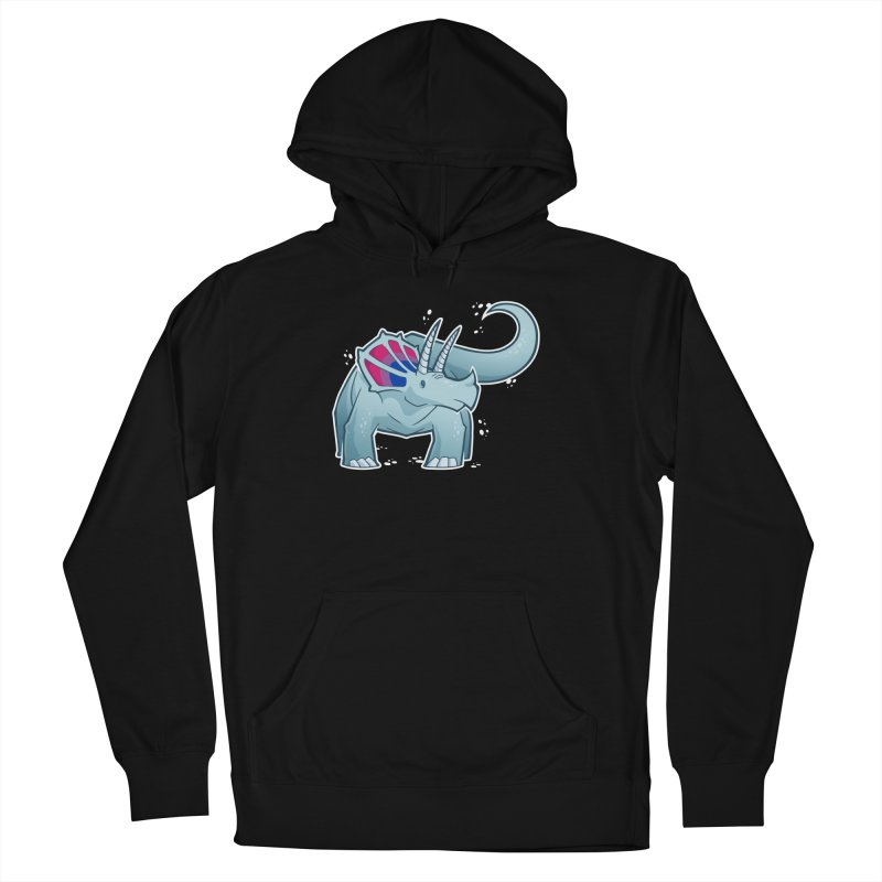 Biceratops Men's French Terry Pullover Hoody by Marty's Artist Shop