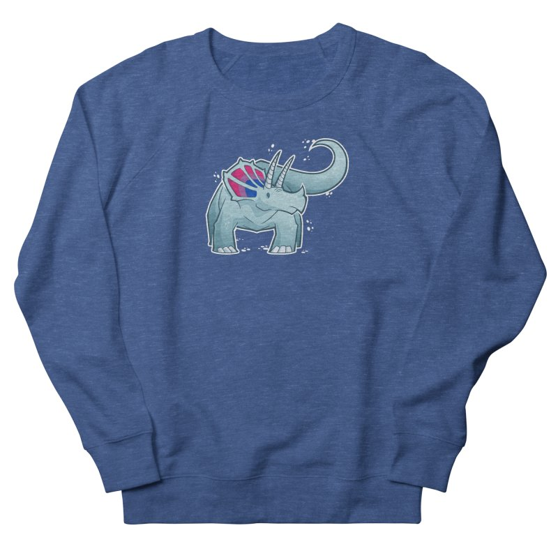Biceratops Women's French Terry Sweatshirt by Marty's Artist Shop