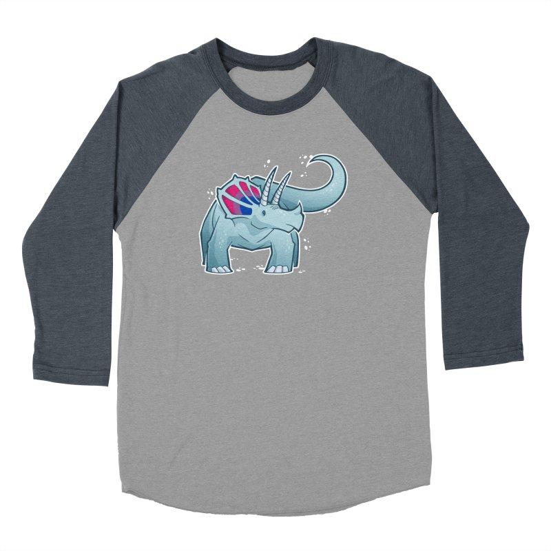 Biceratops Women's Baseball Triblend Longsleeve T-Shirt by Marty's Artist Shop