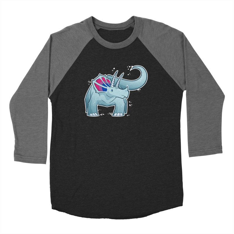 Biceratops Men's Baseball Triblend Longsleeve T-Shirt by Marty's Artist Shop