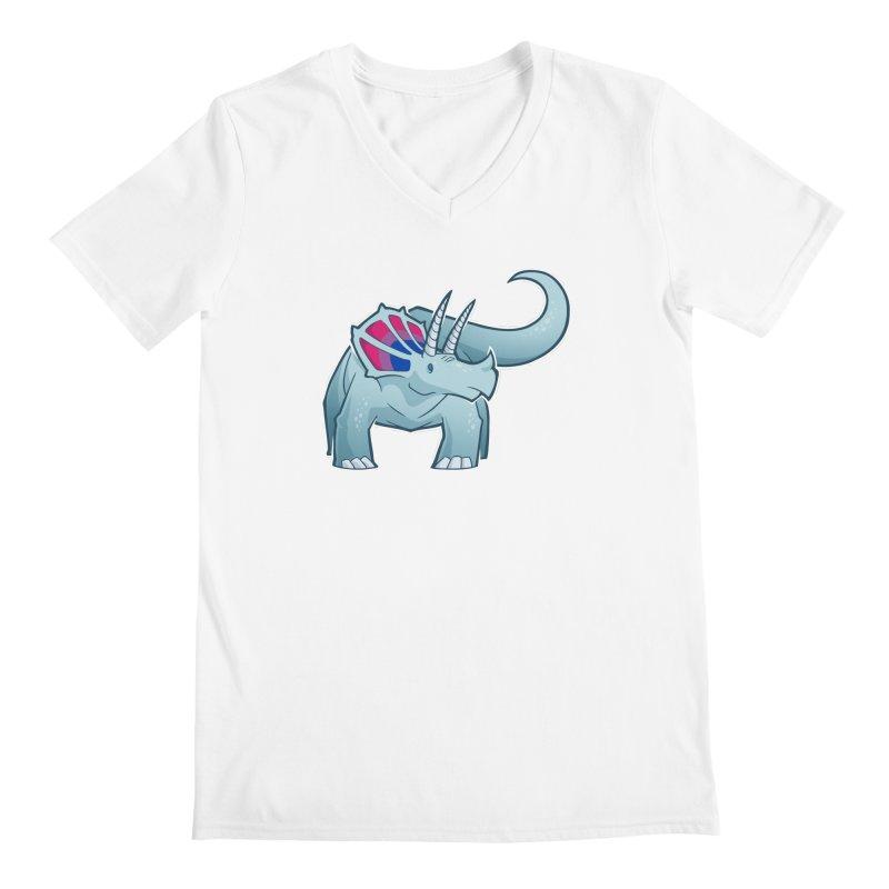 Biceratops Men's V-Neck by Marty's Artist Shop