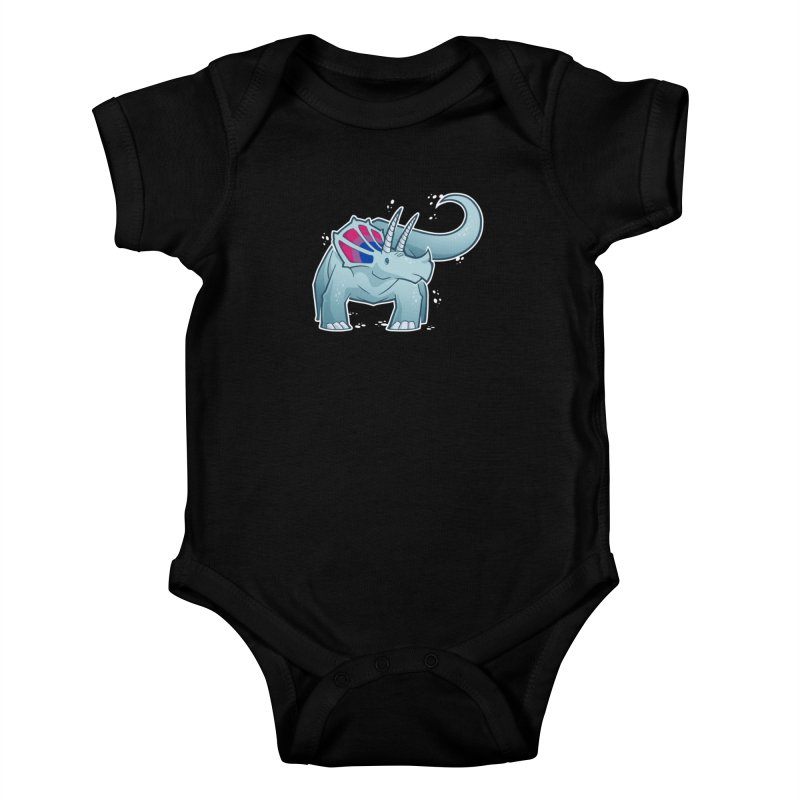 Biceratops Kids Baby Bodysuit by Marty's Artist Shop
