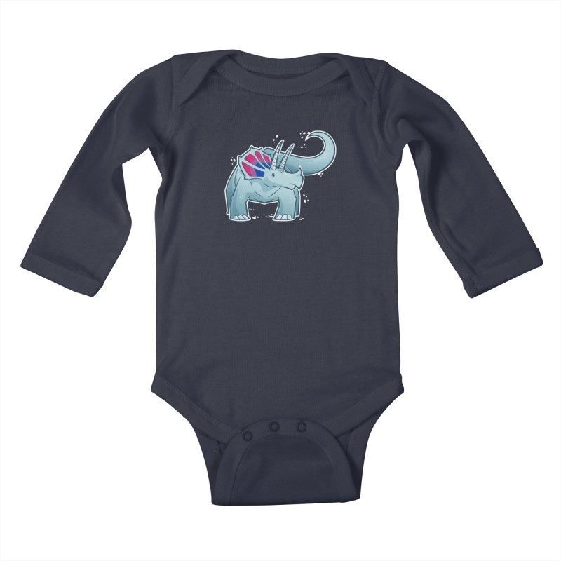 Biceratops Kids Baby Longsleeve Bodysuit by Marty's Artist Shop