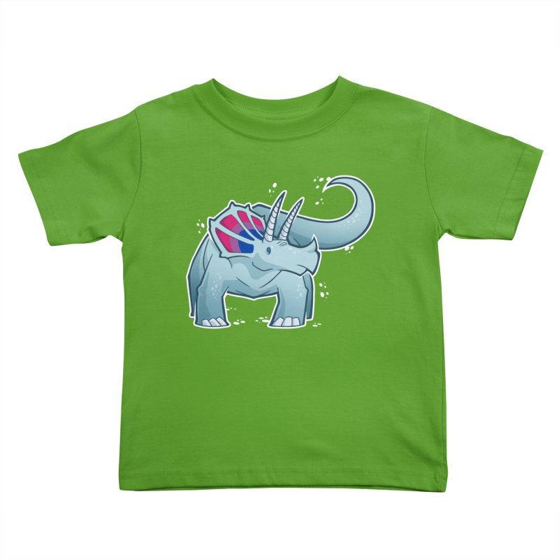 Biceratops Kids Toddler T-Shirt by Marty's Artist Shop