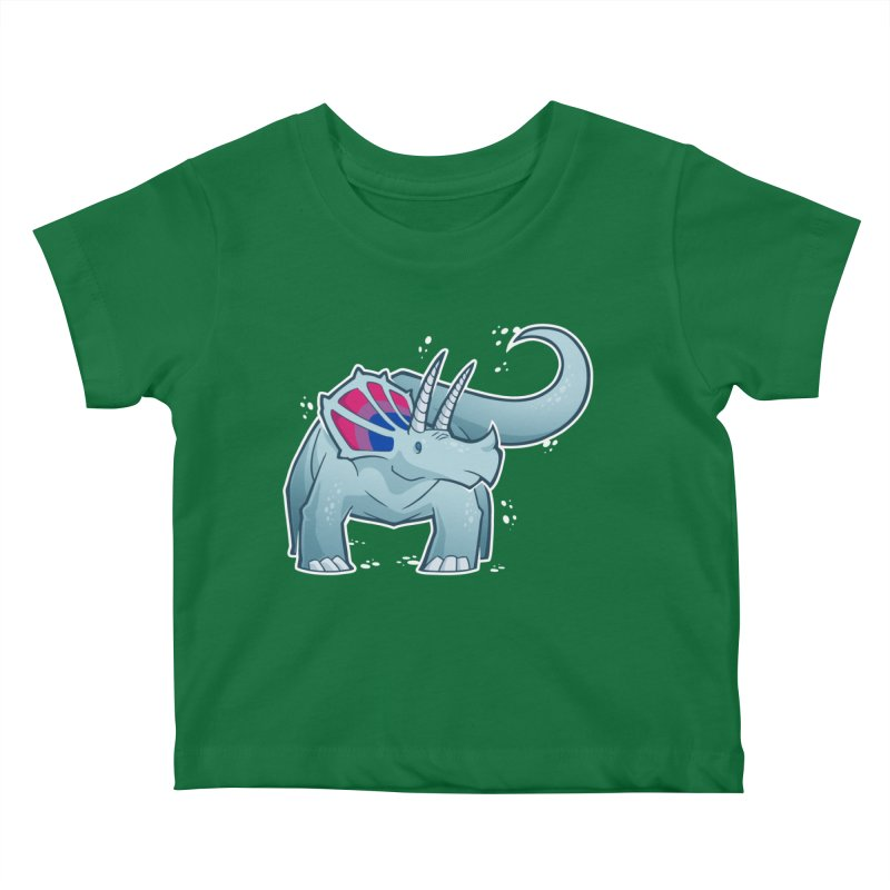 Biceratops Kids Baby T-Shirt by Marty's Artist Shop