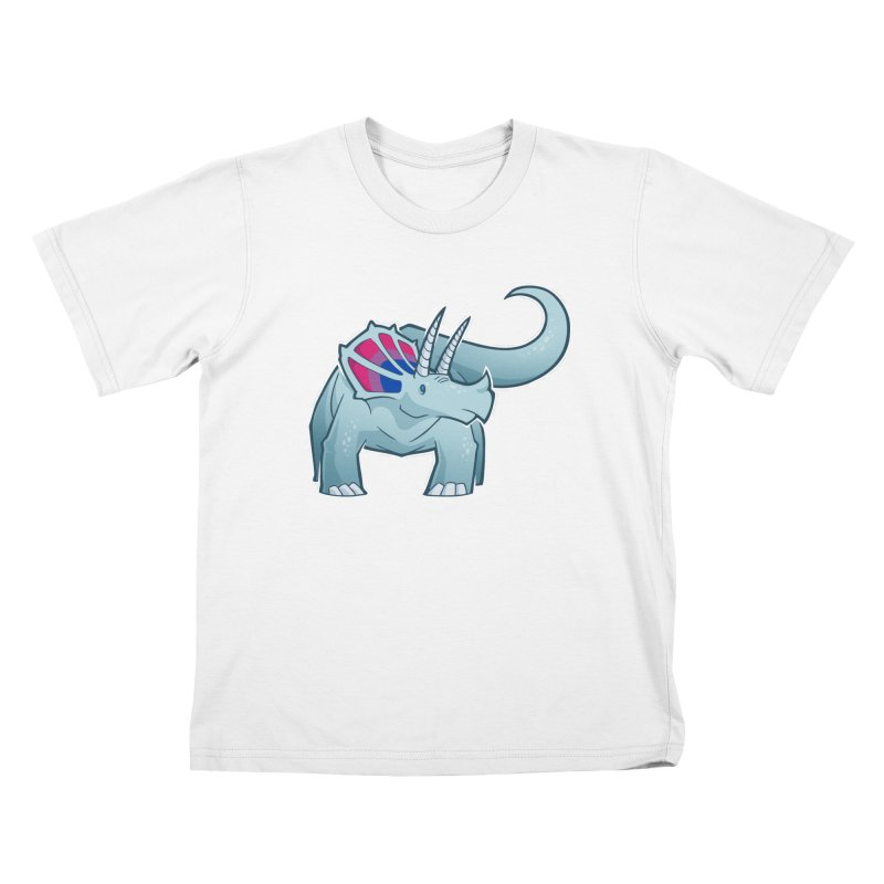 Biceratops Kids T-Shirt by Marty's Artist Shop