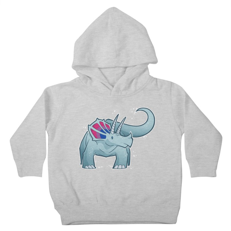 Biceratops Kids Toddler Pullover Hoody by Marty's Artist Shop
