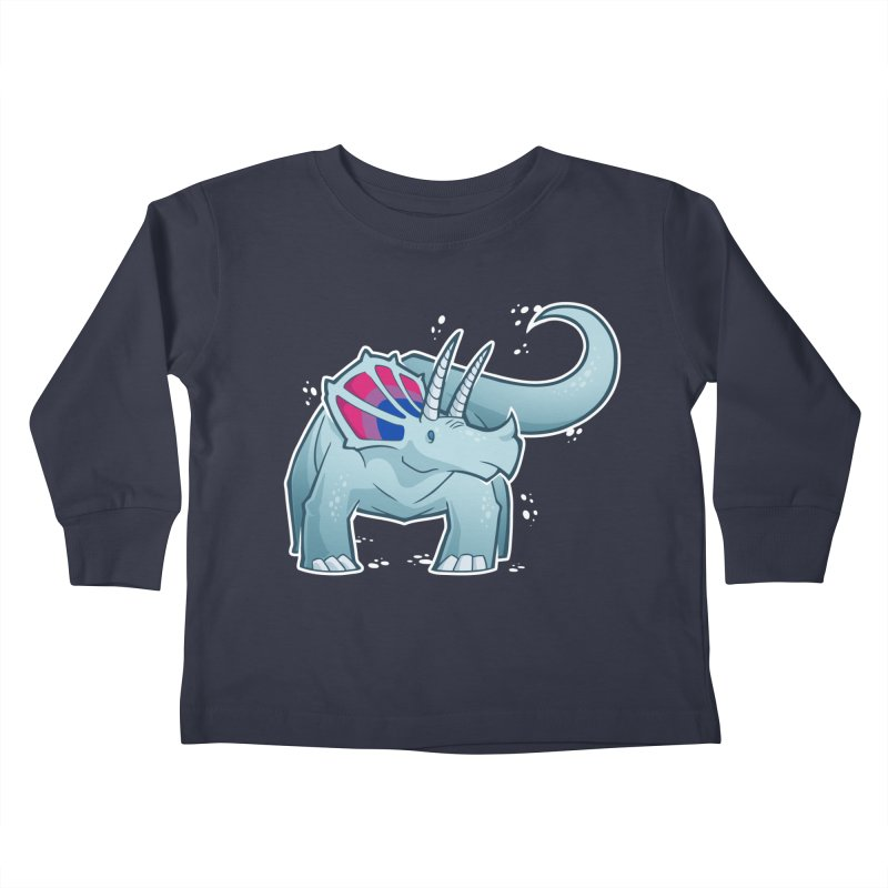 Biceratops Kids Toddler Longsleeve T-Shirt by Marty's Artist Shop