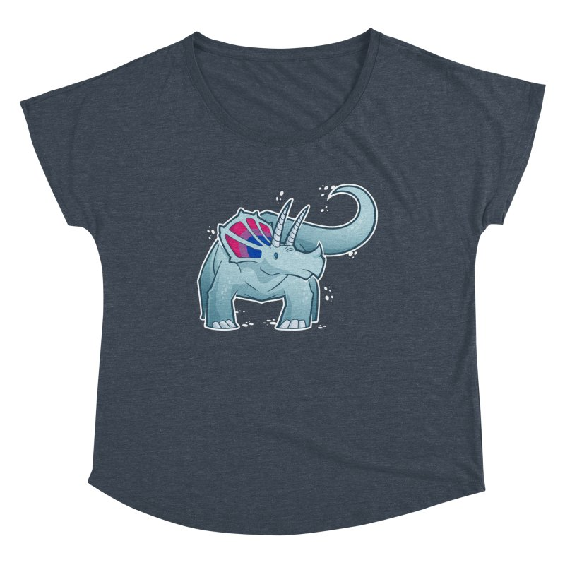 Biceratops Women's Scoop Neck by Marty's Artist Shop