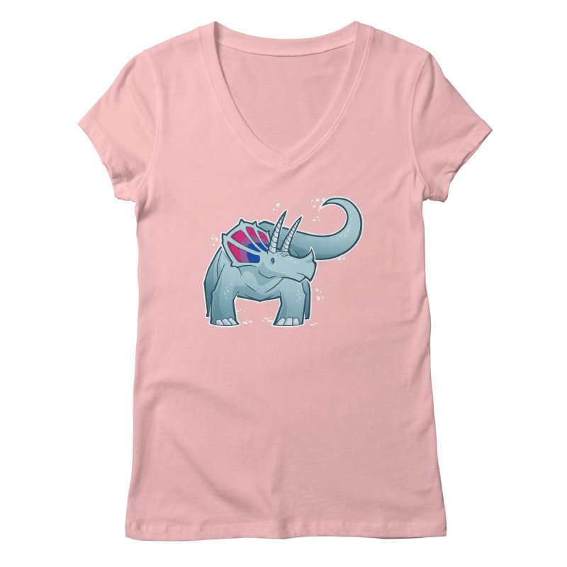 Biceratops Women's V-Neck by Marty's Artist Shop