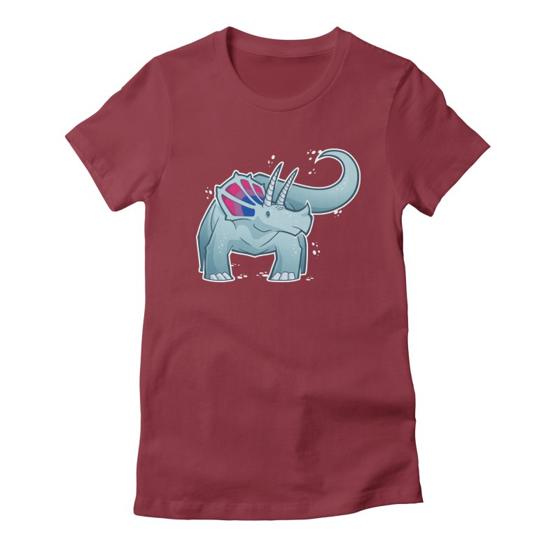 Biceratops Women's T-Shirt by Marty's Artist Shop