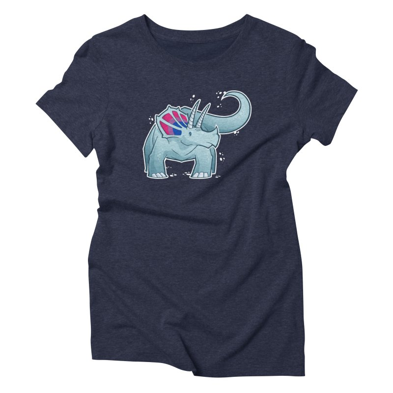 Biceratops Women's Triblend T-Shirt by Marty's Artist Shop