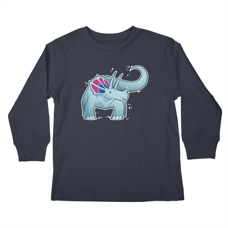 Biceratops Kids Longsleeve T-Shirt by Marty's Artist Shop