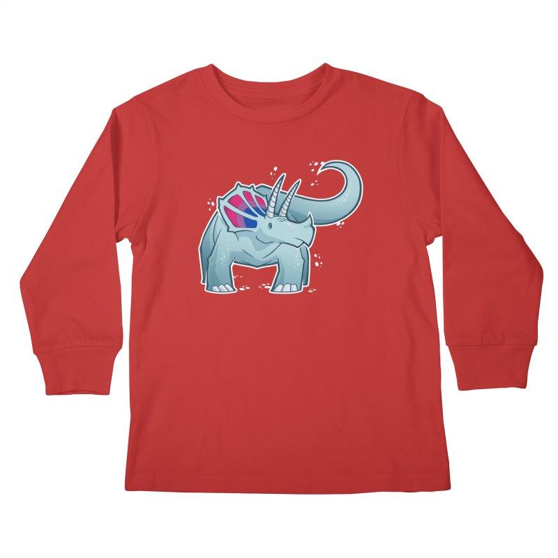 Biceratops Kids Longsleeve T-Shirt by Marty's Artist Shop