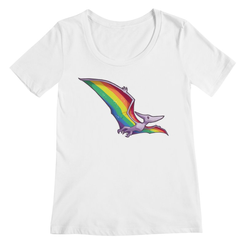Pridactyl Women's Scoop Neck by Marty's Artist Shop
