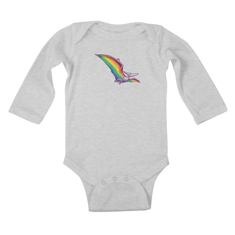 Pridactyl Kids Baby Longsleeve Bodysuit by Marty's Artist Shop