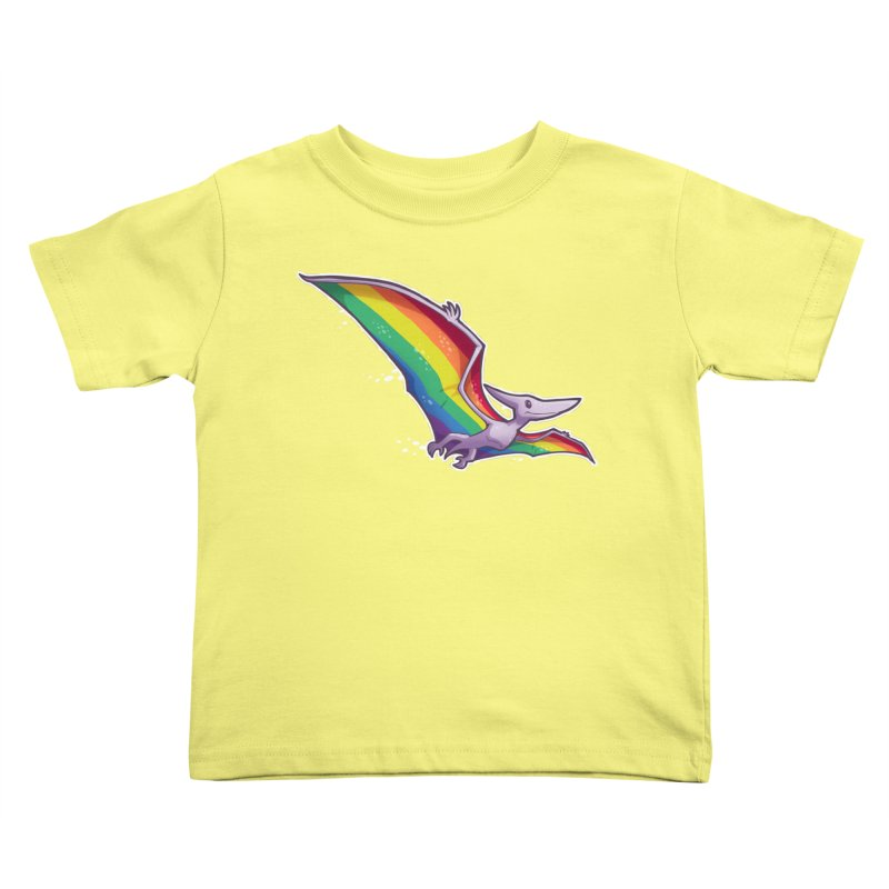 Pridactyl Kids Toddler T-Shirt by Marty's Artist Shop