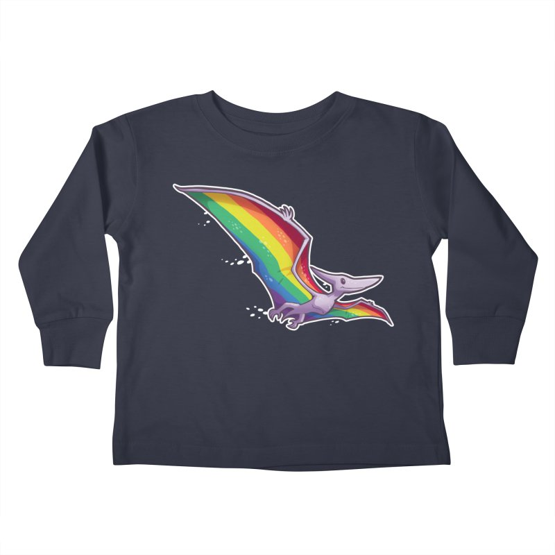 Pridactyl Kids Toddler Longsleeve T-Shirt by Marty's Artist Shop